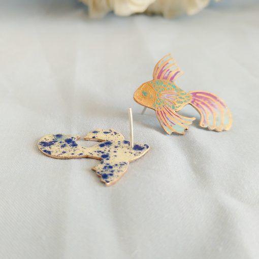 Pendientes pez volador-joyeriacreativa-singularsisters (1)