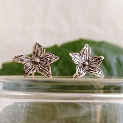 Pendientes flor-plata-perno-joyeriacreativa-singularsisters (1)