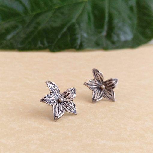 Pendientes flor-plata-perno-joyeriacreativa-singularsisters (2)
