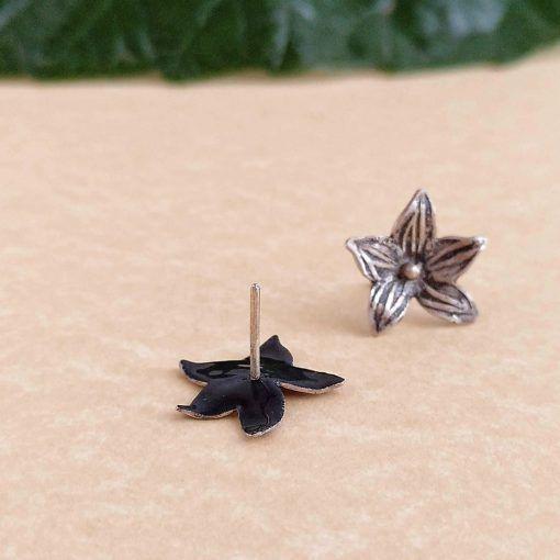 Pendientes flor-plata-perno-joyeriacreativa-singularsisters (3)