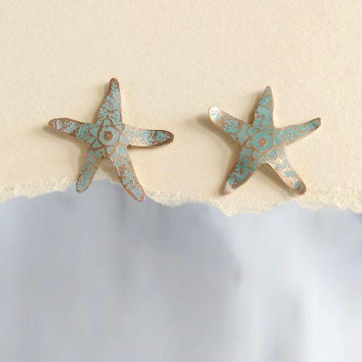 Pendientes Estrella de Mar-joyeriacreativa-singularsisters