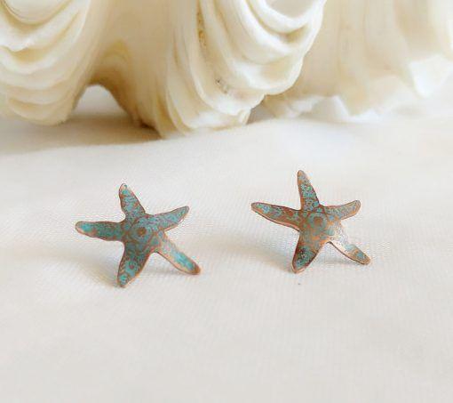 Pendientes-estrella de mar-joyeriacreativa-singularsisters