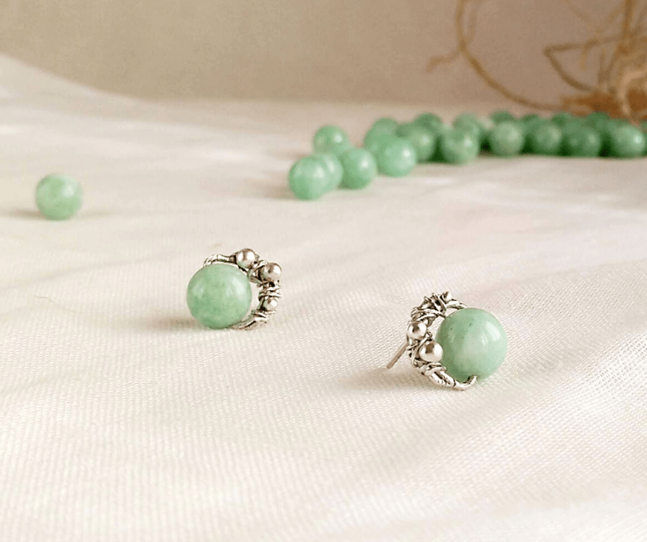 Pendientes de plata y jade-joyas personalizadas-joyeriacreativa-singularsisters