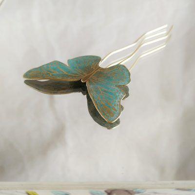 Adorno de pelo-mariposa turquesa-joyeriacreativa-singularsisters