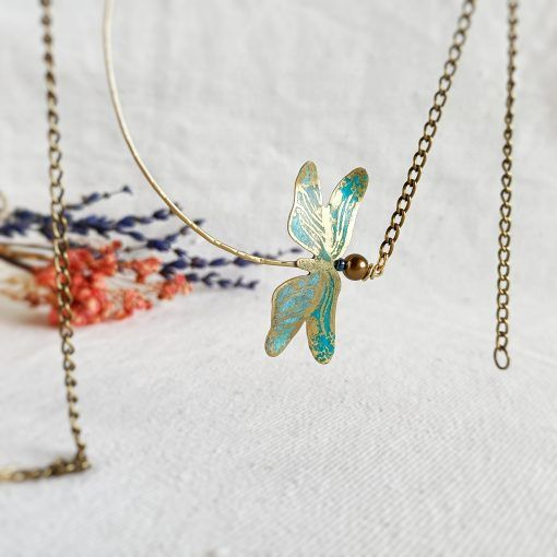 Colgante de libélula-joyas artesanales-singularsisters (1)