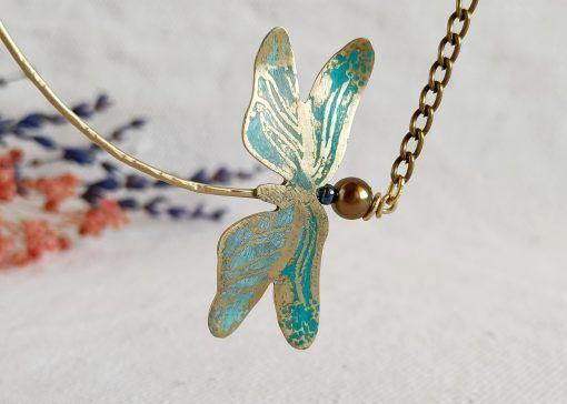 Colgante de libélula-joyas artesanales-singularsisters (2)