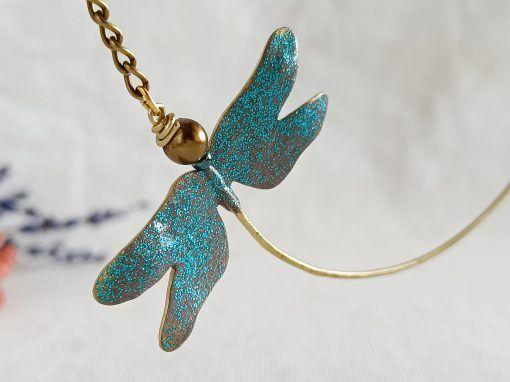 Colgante de libélula-joyas artesanales-singularsisters (3)