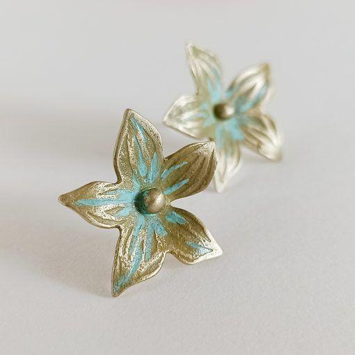 Pendientes de flor-joyas artesanales y sosotenibles-singularsisters (1)