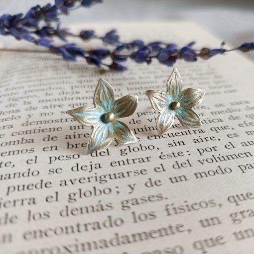 Pendientes de flor-joyas artesanales y sosotenibles-singularsisters (3)