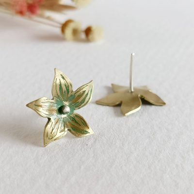 Pendientes flor-joyeria artesanal y sostenible-singularsisiters (2)