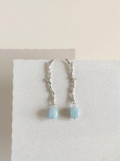 Pendientes de plata y aguamarina- joyas de singularsisters (4)