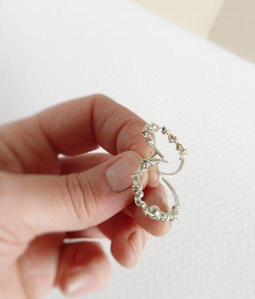 Aros de plata de estilo orgánico- joyas de singularsisters (4)