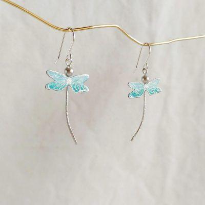Pendientes de libelula-joyas artesanales (1)