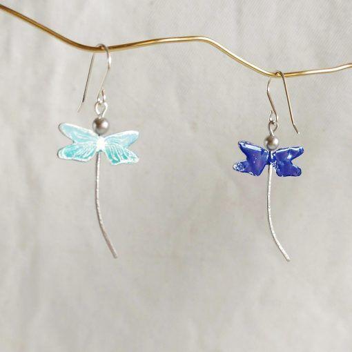 Pendientes de libelula-joyas artesanales (2)