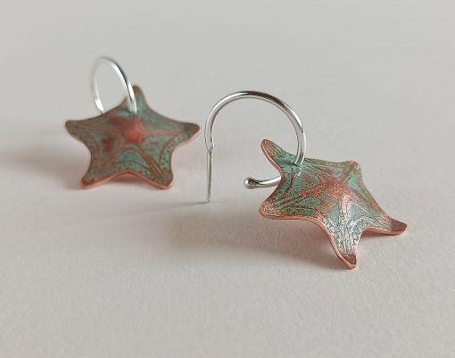Pendientes Estrella de mar-joyas sostenibles-singularsisters (3)