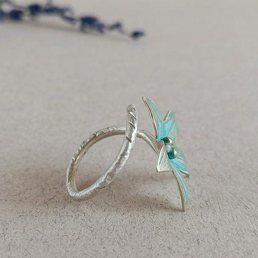 Anillo Flor- plata-joyas artesanales-singularsisters (2)