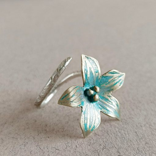 Anillo Flor- plata-joyas artesanales-singularsisters (3)