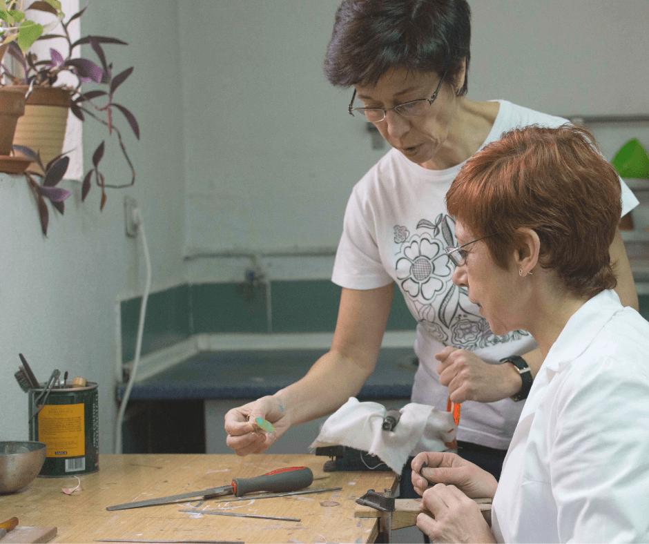 Singular Sisters en el taller